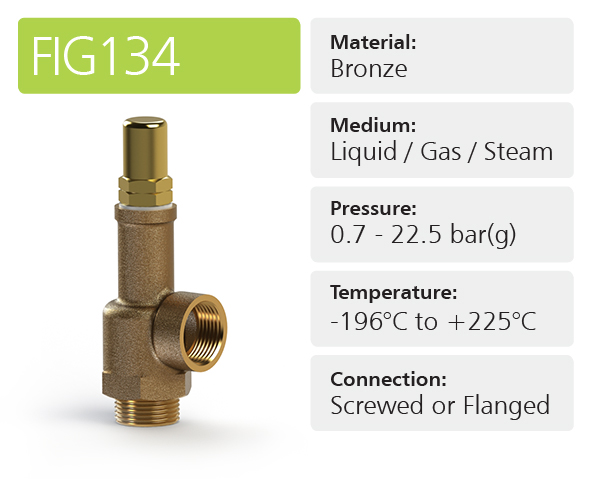 Fig 134 General Purpose Pressure Relief Valves
