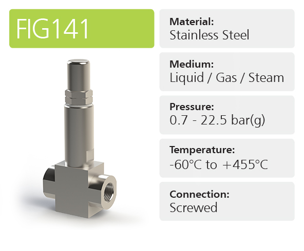 Fig141 In-line Pressure Relief Valves