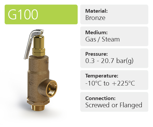 G100 High & Full Lift Safety Relief Valves