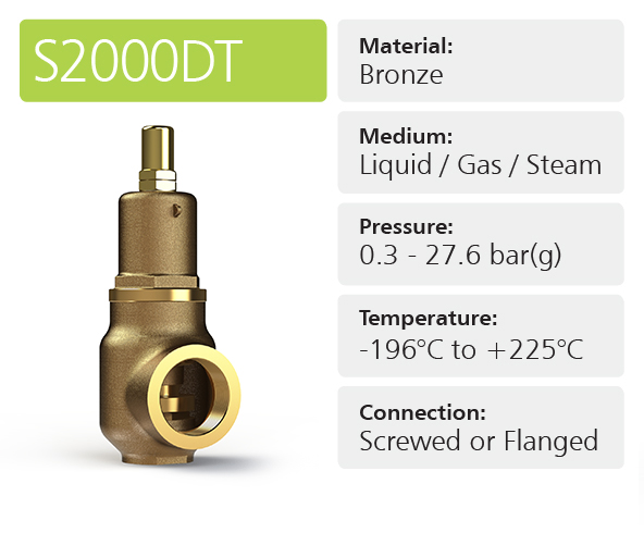 S2000DT High & Full Lift Safety Relief Valves