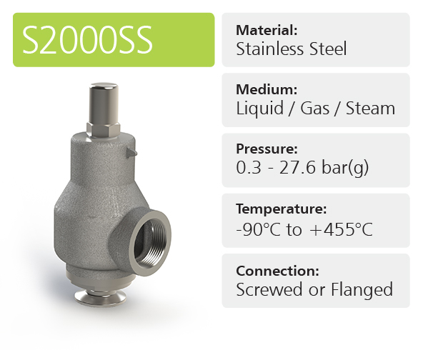 S2000SS High & Full Lift Safety Relief Valves