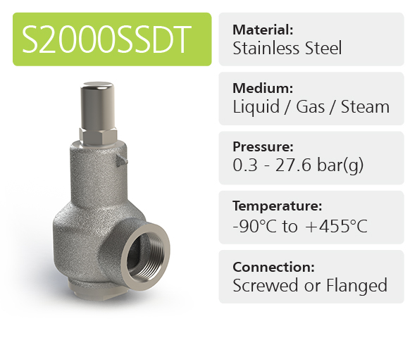 S2000SSDT High & Full Lift Safety Relief Valves